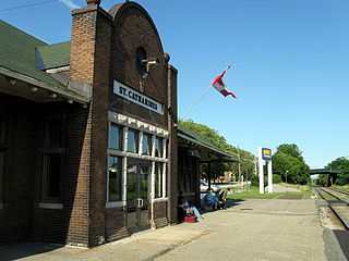 St. Catharines station railway station in St. Catharines, Canada