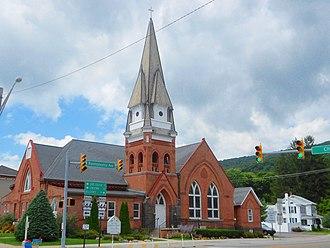 Centre Hall, Pennsylvania - St. Luke Lutheran Church on Pennsylvania Avenue in Centre Hall