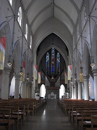Cathedral of St Stephen, Brisbane - Nave looking east to the high altar