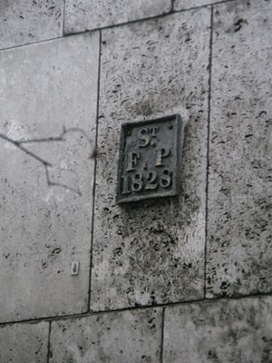 St Faith under St Paul's - Image: St faiths plaque in New Change
