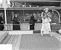 Staatsbezoek Franse president Coty aan Nederland. boottocht Piet Hein aankomst L, Bestanddeelnr 906-6197.jpg