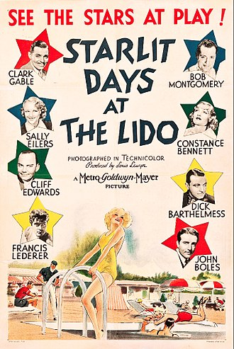 Ambassador Hotel (Los Angeles) - Poster for Starlit Days at the Lido