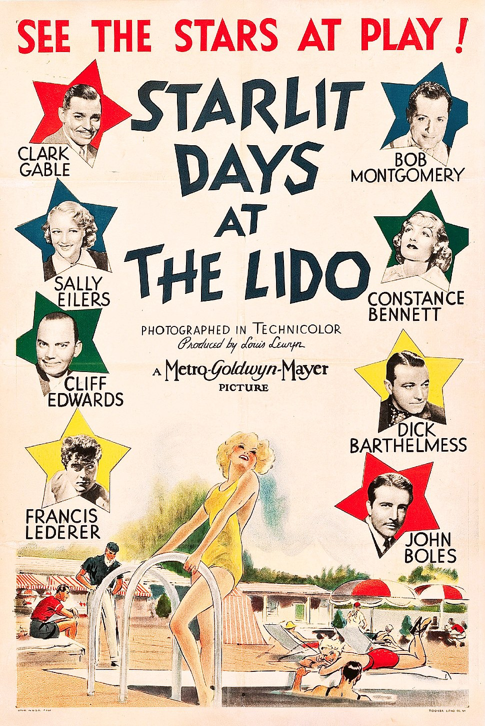 Starlit Days at the Lido poster
