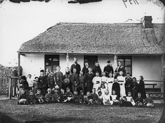 St Paul's Anglican Church, Cleveland - Sunday school class in the old Cleveland Court House, ca. 1871