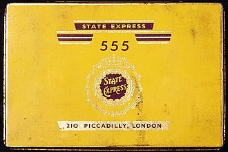 State Express 555 - Image: State Express 555 cigarettes tin
