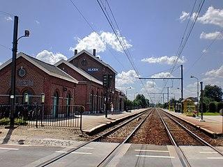 Alken (B) railway station railway station in Belgium
