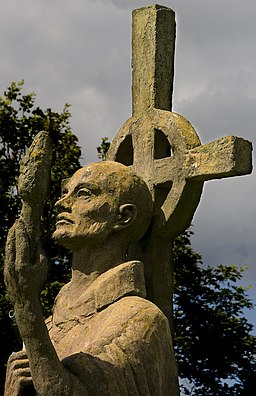 Statue of St Aidan, Lindisfarne Priory