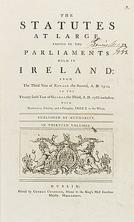 Law of the Republic of Ireland Constitutional, statute and common laws of Ireland