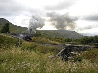 Mallerstang - Image: Steamtrain at Aisgill
