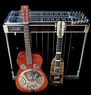 Steel guitar type of guitar or the method of playing the instrument