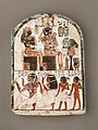 Stela of the Sculptor Qen worshipping Amenhotep I and Ahmose-Nefertari MET 59.93 EGDP013746.jpg