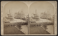 Stemboats at Mayville dock, by Walker, L. E., 1826-1916.png