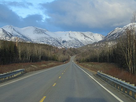 The Sterling Highway, near its intersection with the Seward Highway Sterling Highway.jpg