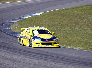 Cacá Bueno - Cacá driving his Mitsubishi Lancer in 2006.