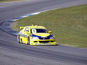 Cacá Bueno - Cacá driving his Mitsubishi Lancer in 2006.