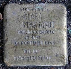 Photo of Clara Stargardt brass plaque