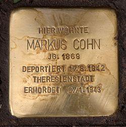 Stolperstein fasanenstr 42 (wilmd) markus cohn
