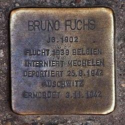 Photo of Bruno Fuchs brass plaque
