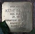 Stolperstein Konstanzer Str 62 (Wilmd) Käthe Galland.jpg