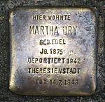 Stolperstein Radebeul Martha Ury.JPG
