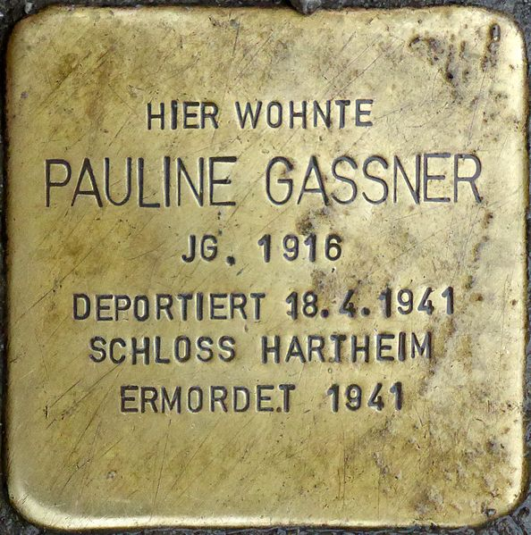 Datei:Stolperstein Salzburg, Pauline Gassner (Müllner Hauptstraße 13).jpg – Wikipedia