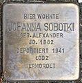 Stolperstein Solingen Weyersberger Str. 14 Johanna Sobotki.jpg