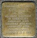 Stumbling block for Karl Hager (Schnurgasse 12)