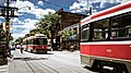 Streetcar congestion Toronto July 2011.jpg
