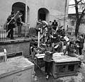 Student, school yard, scrapping, learning, school uniform Fortepan 87917.jpg