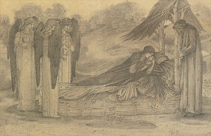 The Nativity (Burne-Jones) - Pencil study for The Nativity