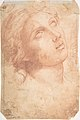 Study of a Seated Putto Looking at His Right (recto); A Woman's Head, Study after the Antique (verso) MET DP809042.jpg