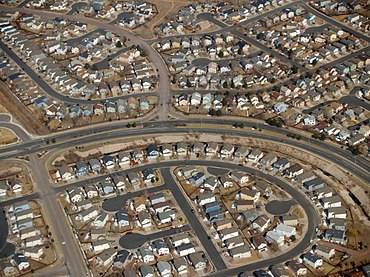Residential area in Colorado Springs