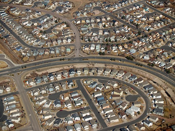 Suburban development near Colorado Springs, Colorado, United States Suburbia by David Shankbone.jpg