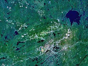 Sudbury Basin - Image: Sudbury Wanapitei World Wind
