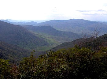 The Sugarlands, looking northwest from Bull He...