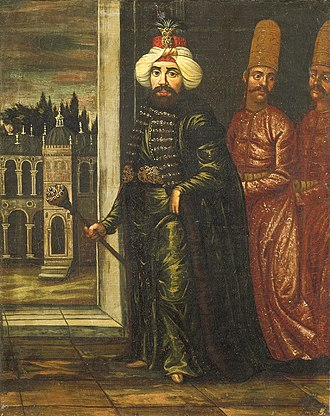 Dolman - Sultan Ahmed III (1703–1730) and two followers wearing dolaman robes