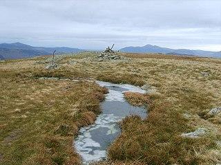 Ullscarf mountain in United Kingdom