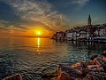 Sunset in old town Rovinj (8093140959).jpg