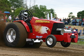 Wheelie - Wheelie at a tractor pull