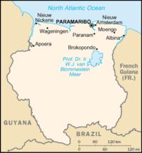 Карта суринаму