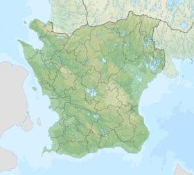 Voir la carte topographique du Scanie