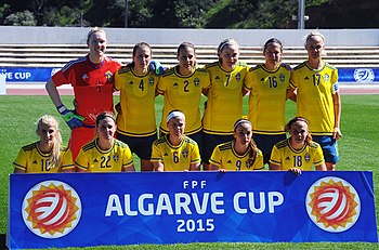 Sweden at the Women's Algarve Cup 2015 (16716292036).jpg