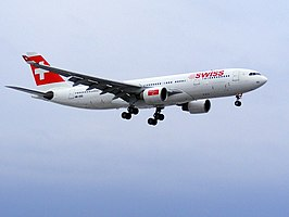 Een Airbus A330 van Swiss International Air Lines