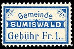 Switzerland Sumiswald 1916 revenue 1Fr 23B.jpg
