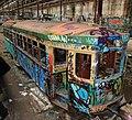 Sydney tram vandalised.jpg