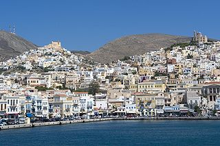 Syros Place in South Aegean, Greece