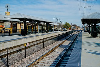 Grapevine-Main Street station - Image: TEX Rail Grapevine Main St 2018 3