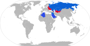 TOS-1 - Map with TOS-1 operators in blue
