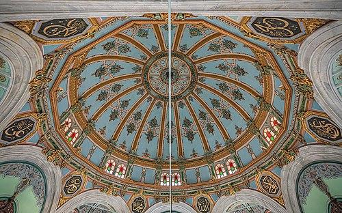 Dome interior of Izmir Salepçioğlu Mosque