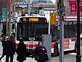 TTC bus 8213 proceeding north on Lower Jarvis, 2014 12 25 (4) (16103831081).jpg